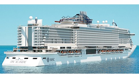 Despite its size, MSC Seaside's design connects guests with the ocean
