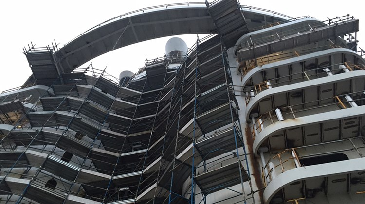 The aft ''condo'' area of the MSC Seaside.