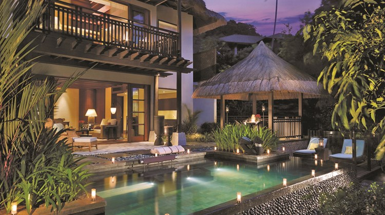 A loft villa at Shangri-La's Boracay Spa & Resort that mixes indigenous design flourishes with luxury.