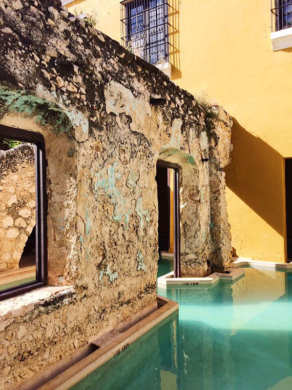 The pool at Hacienda Puerta Campeche. Photo Credit: Meagan Drillinger