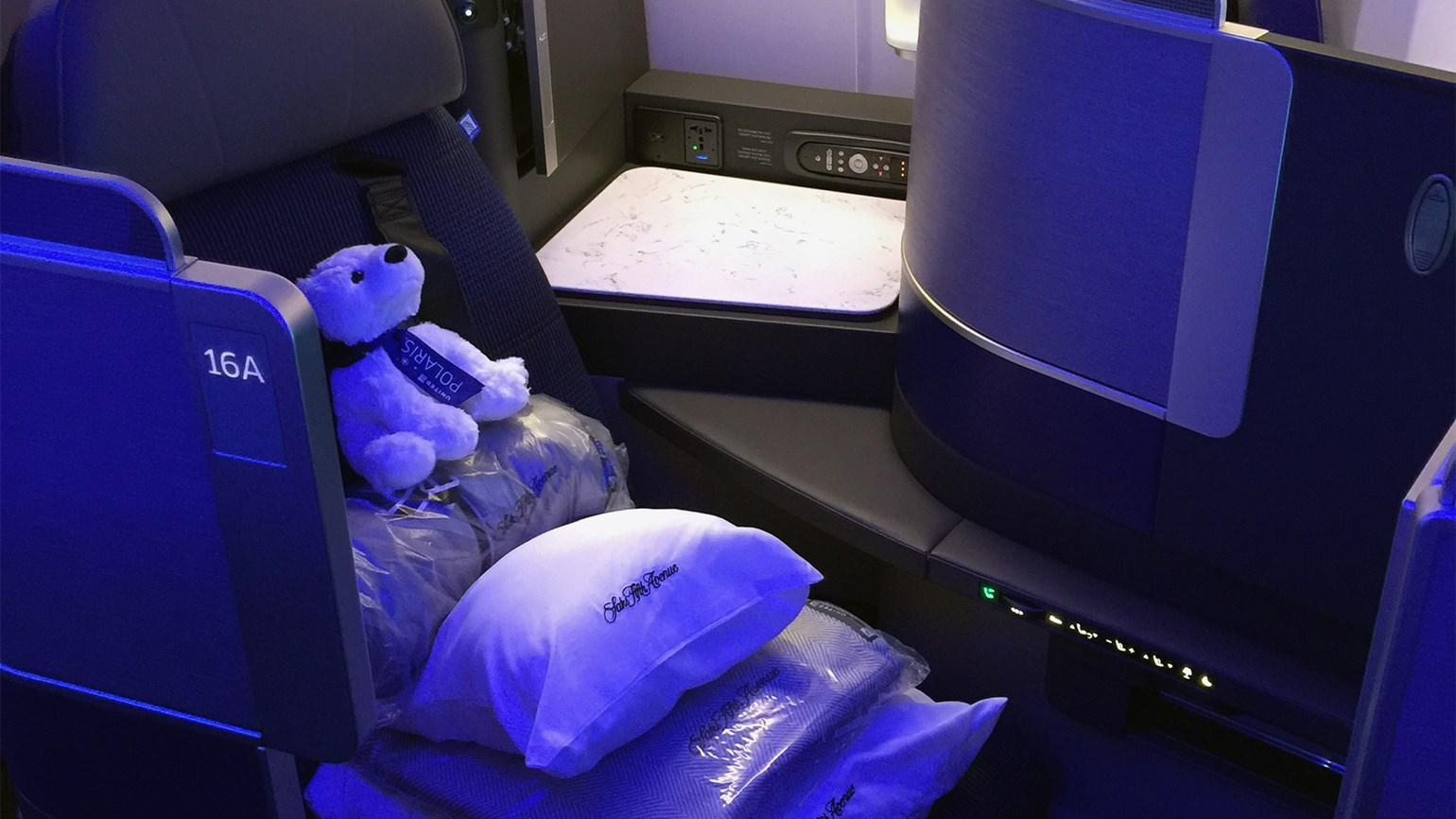 United sweats the details in new business class