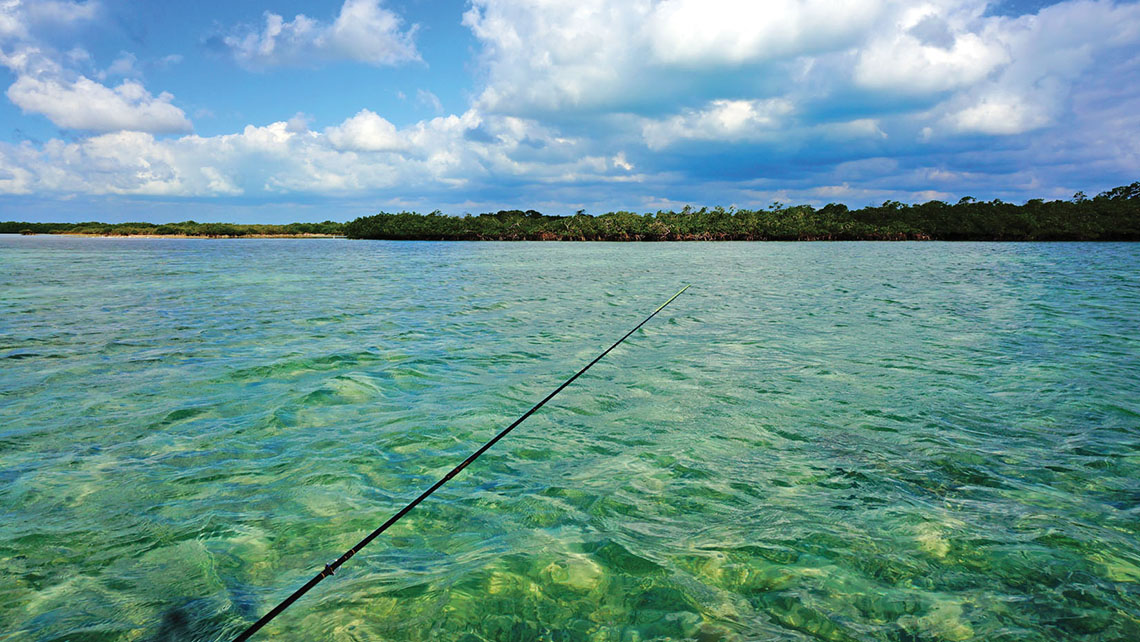 Fishing in the flats in and around Cayo Romano. Photo Credit: Bart Beeson