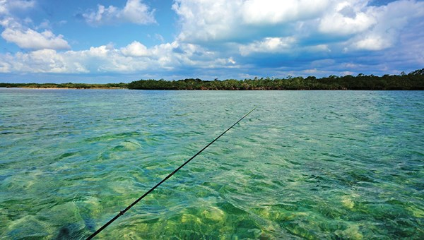 Fishing in the flats in and around Cayo Romano.