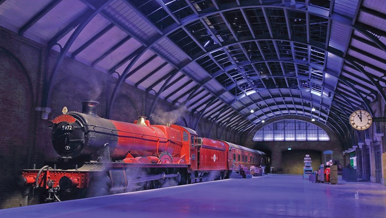 The studio tour's Hogwarts Express train.
