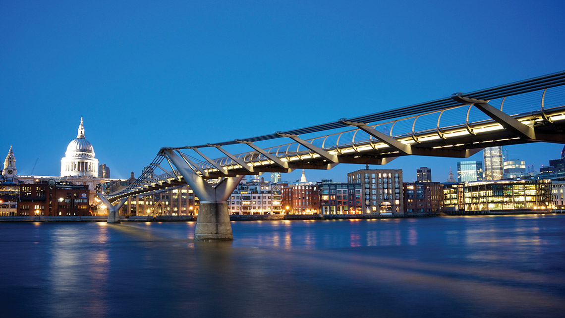 "The Millennium Bridge is recognizable to kids from its destruction in ""Harry Potter and the Half-Blood Prince."""