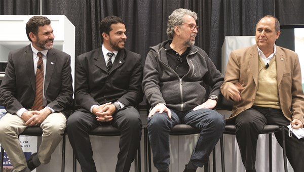 At the New York Times Travel Show, from left, panelists George Soriano, Sibu Chocolate; Joxan Obando, Greentique Hotels; Glenn Jampol, of the Global Ecotourism Network and Finca Rosa Blanca Coffee Plantation Resort; and Alfredo Echeverria, Club de La Gastronomia Epicurea extol Costa Rica's gastrotourism.