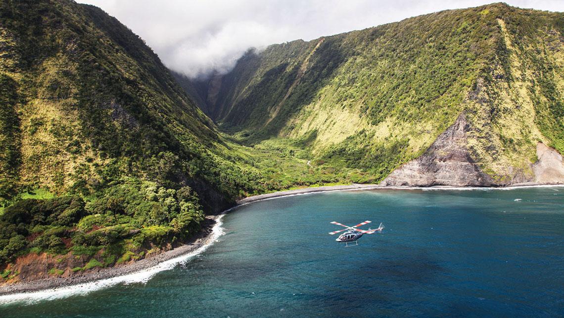 The Kona Coast on the Big Island of Hawaii.