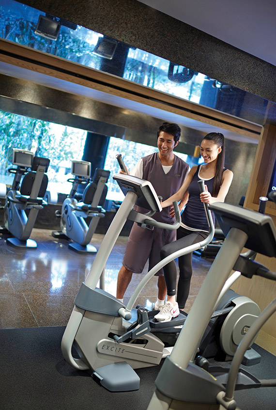 The renovated Plateau Spa and fitness center has attentive personal trainers and staff.