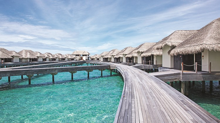 One-bedroom overwater villas are 2,422 square feet and each has a private pool.<br /><br /><strong>Photo Credit: Courtesy Outrigger Hotels & Resorts</strong>