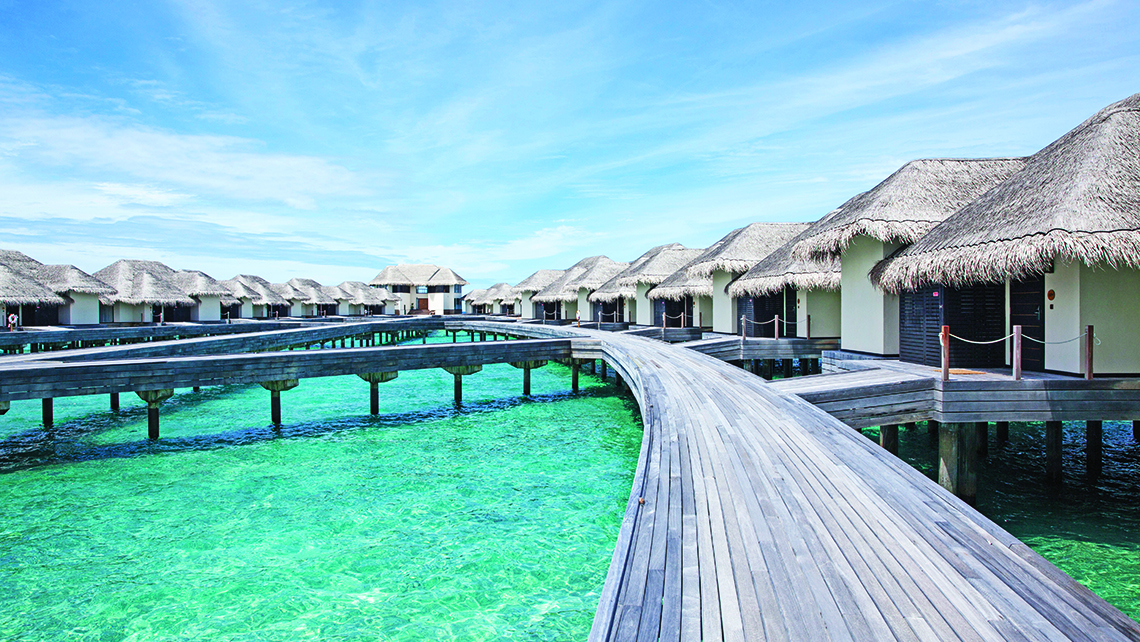 One bedroom overwater villas are 2224 square feet and come with a private pool. Photo Credit: Courtesy Outrigger Hotels & Resorts