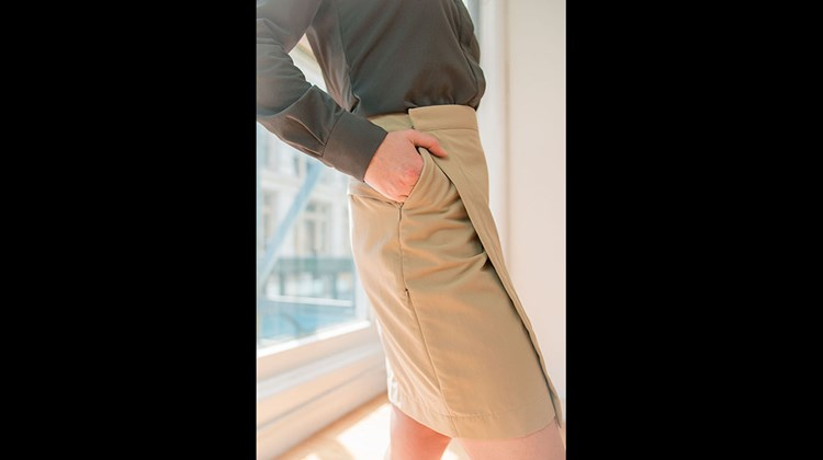 Clothing Arts, a company that specializes in pickpocket-proof apparel, has come up with this stylish item for women on the go. The skirt, which is water and stain resistant, has five zippered pockets for safely carrying a passport, money, cards, a cellphone and other necessities as well as an adjustable waist for comfort. Constructed out of a lightweight, pre-washed, moisture-wicking nylon fabric, the skirt is available in sandstone, navy and black, in sizes from 2 to 14.