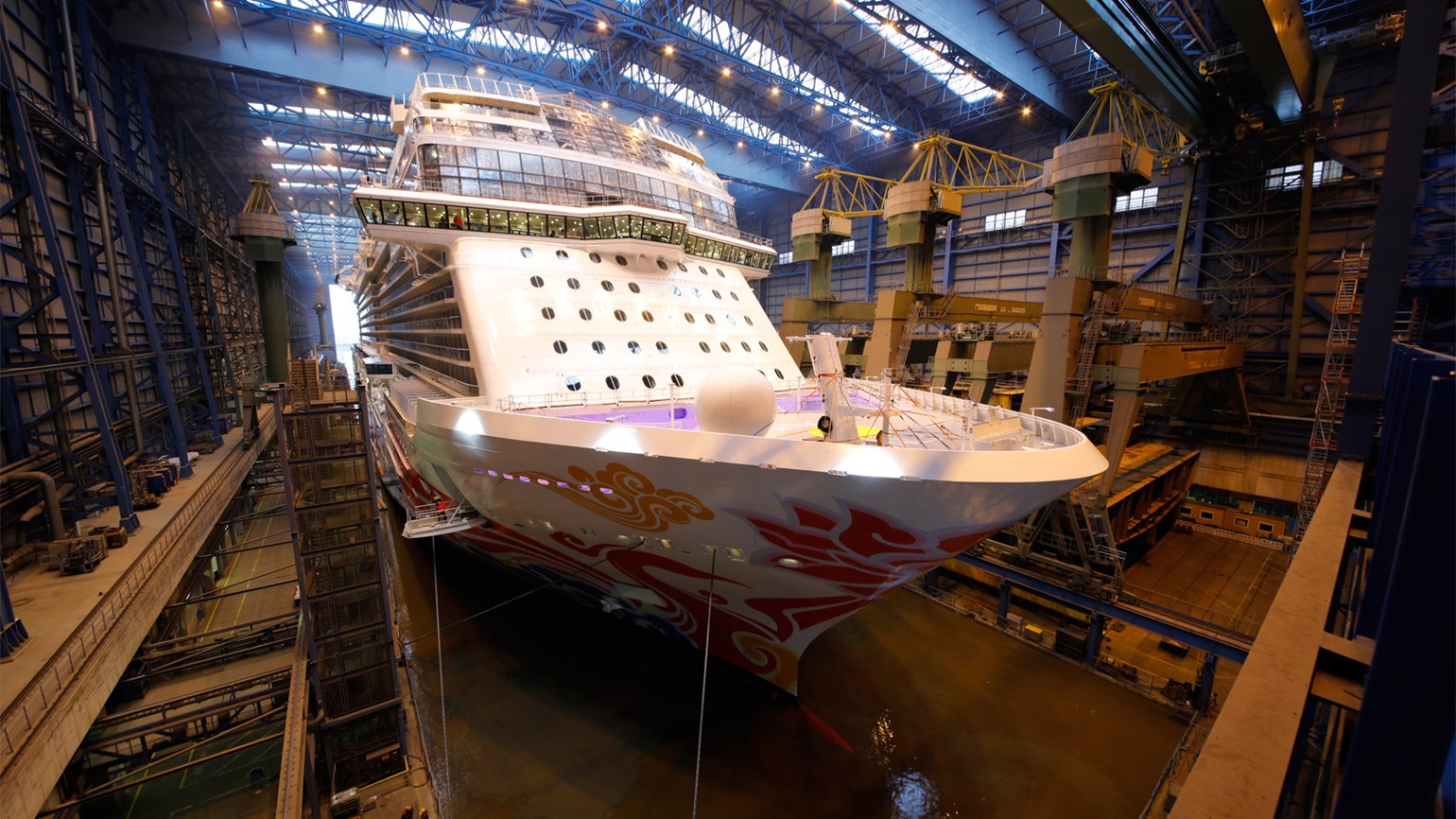 Norwegian Joy Floated Out Travel Weekly