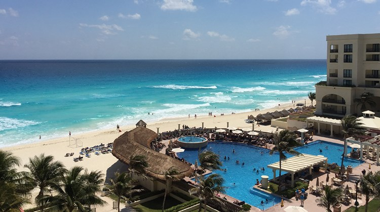 Destinations editor Eric Moya spent the weekend in Cancun as a guest of the JW Marriott Cancun and the CasaMagna Marriott Cancun. Pictured, a balcony view from the CasaMagna Marriott Cancun.