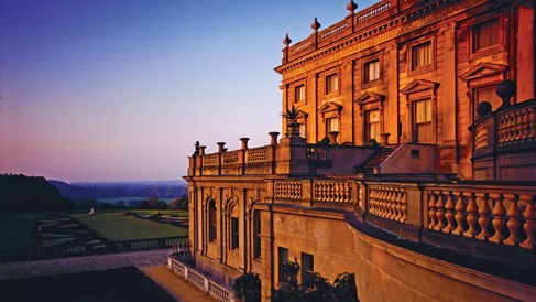 Grandeur in the English countryside at Cliveden House