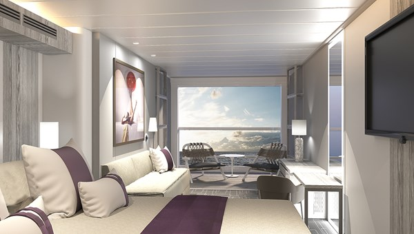 The Infinite Veranda turns guest quarters into a seamless space -- from the room's door all the way to the water's edge.