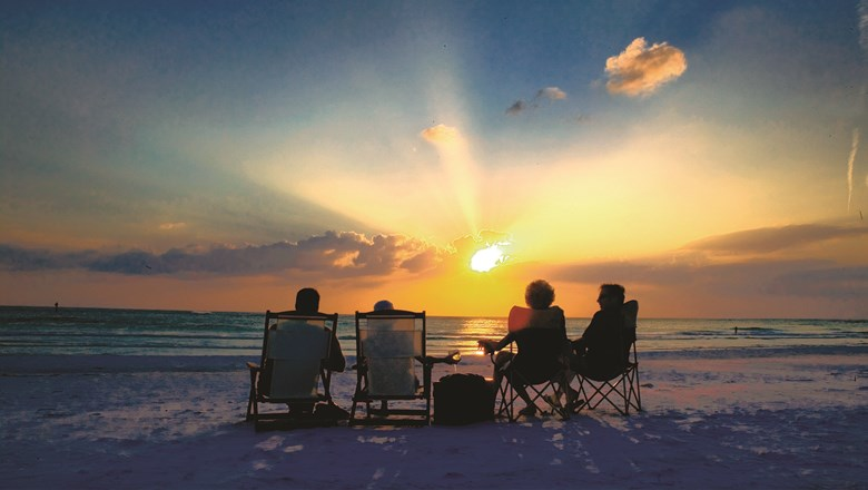 Siesta Beach in Sarasota. Southwest is introducing flights to the city on Feb. 14.
