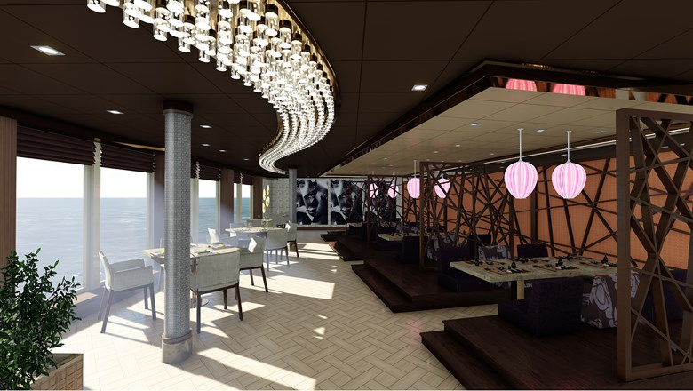 MSC will sell dining packages of specialty restaurants, which include Roy Yamaguchi's Asian Market Kitchen on the MSC Seaside.