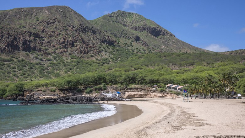 Cape Verde's Santiago Island offers diverse landscapes, from white, sandy beaches to green, mountainous peaks.