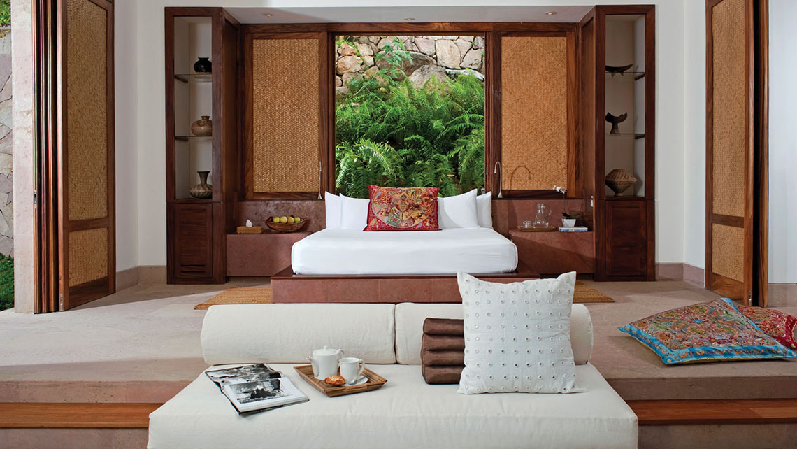 The interior of an Imanta Resorts villa.