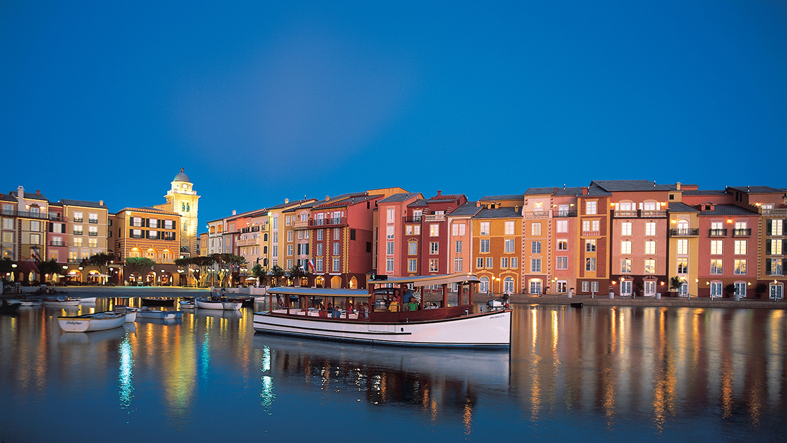 The Loews Portofino Bay at Universal Orlando Resort is designed to resemble an Italian seaside village.