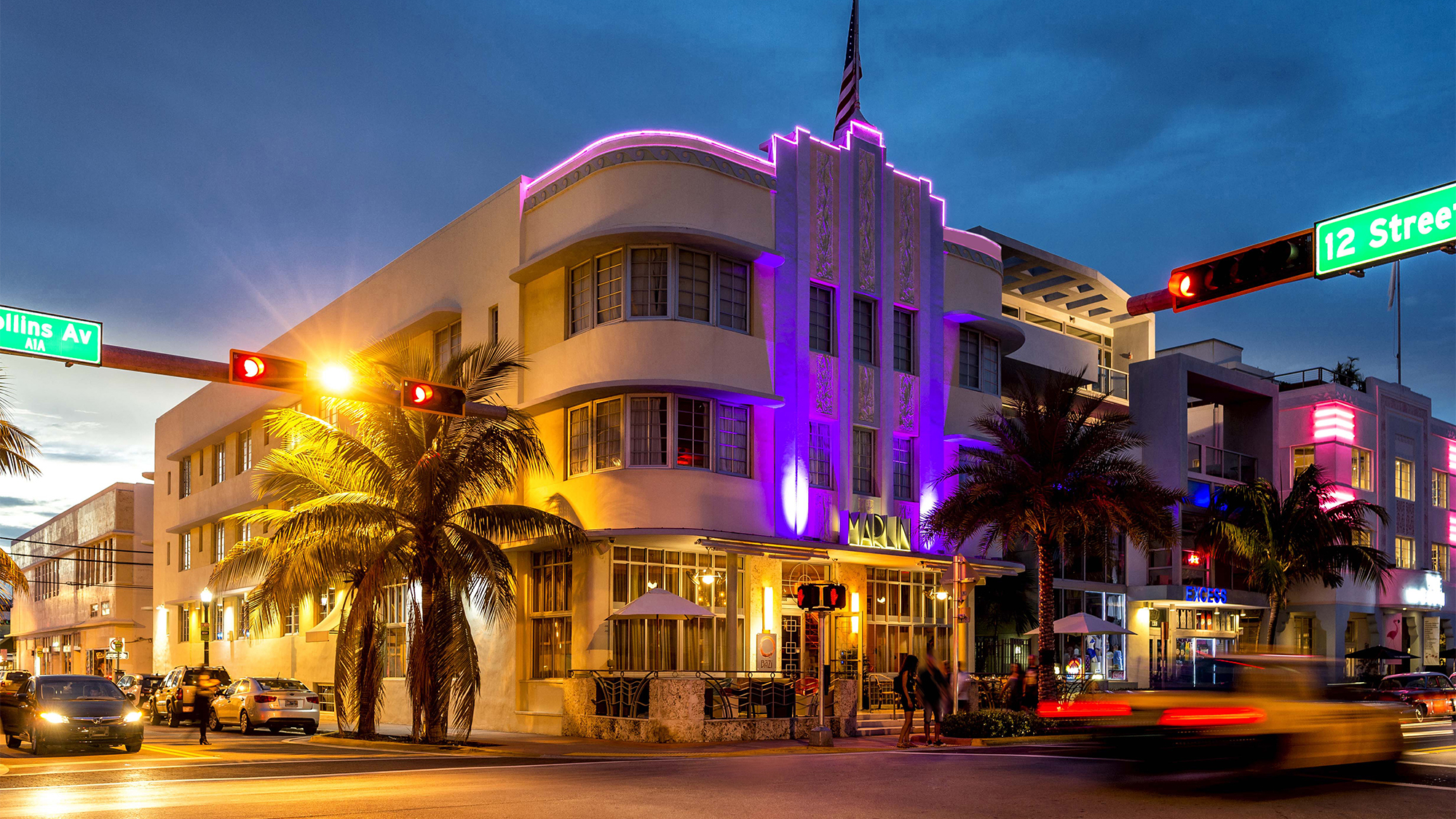 Art Deco Decadence At Miami Beach S Made Over Marlin Hotel