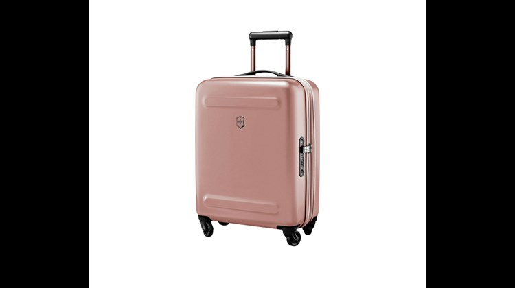 This four-wheel Global carryon from the dependable Victorinox of Switzerland measures 15.4 by 21.7 by 7.9 inches (and expands to a depth of 9.1 inches), weighs only 6.2 pounds and packs 2,624 cubic inches of stuff you need for an overnight stay. Other features of this handsome luggage from the new Etherius four-bag line are a three-position locking handle, Hinomoto wheels, zippered divider walls, y-shaped divider straps and an integrated combination lock whose combination can be registered for quick recovery in the event of a memory lapse.