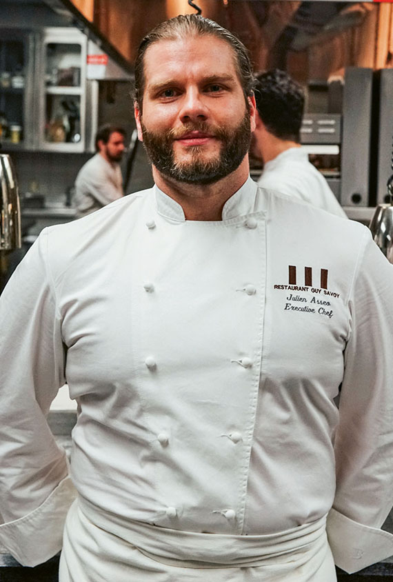 Executive chef Julien Asseo offers private cooking lessons at Guy Savoy restaurant.