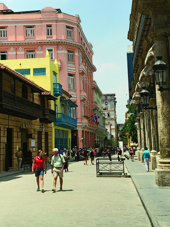 The restored colonial buildings in Old Havana. Cuban port calls are rich with cultural and historical tours to conform to rules regarding Cuba travel. Photo Credit: Robert Silk