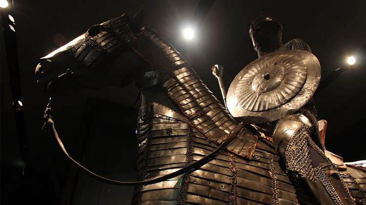 Turkish armor dating from the late 15th to early 16th century at the Museum of Islamic Art.