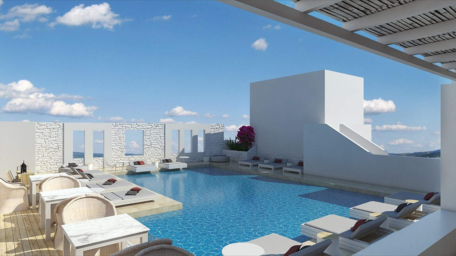 Mr. & Mrs. White oceanfront hotel opening in Greece