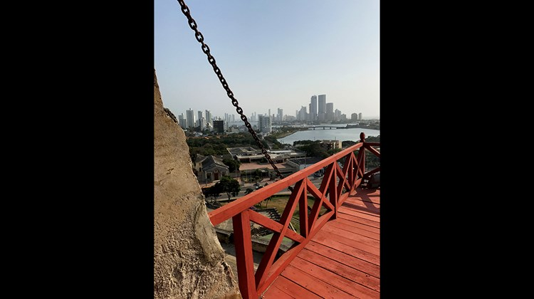 The ''new'' Cartagena, on view from Castillo San Felipe de Barajas, a castle fortress located on the Hill of San Lazaro dating back to 1536.