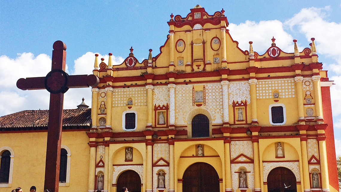 The Cathedral of San Cristobal de las Casas in the state of Chiapas. Photo Credit: Meagan Drillinger