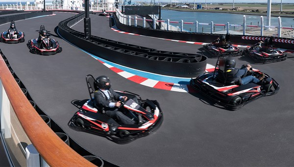 The Norwegian Joy's go-cart racetrack.