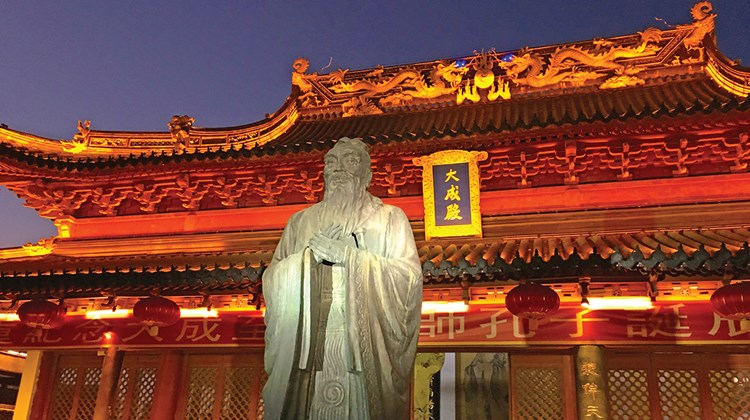 On a fall trip to Nanjing, China, news editor Johanna Jainchill found a hugely popular destination among Chinese travelers that is not well known among western tourists. The city offers some of China's most important Buddhist sites, a wealth of Ming Dynasty artifacts and one of the country's most significant war museums. Pictured here, Nanjing's Confucius Temple, with the largest Confucius figure in China.