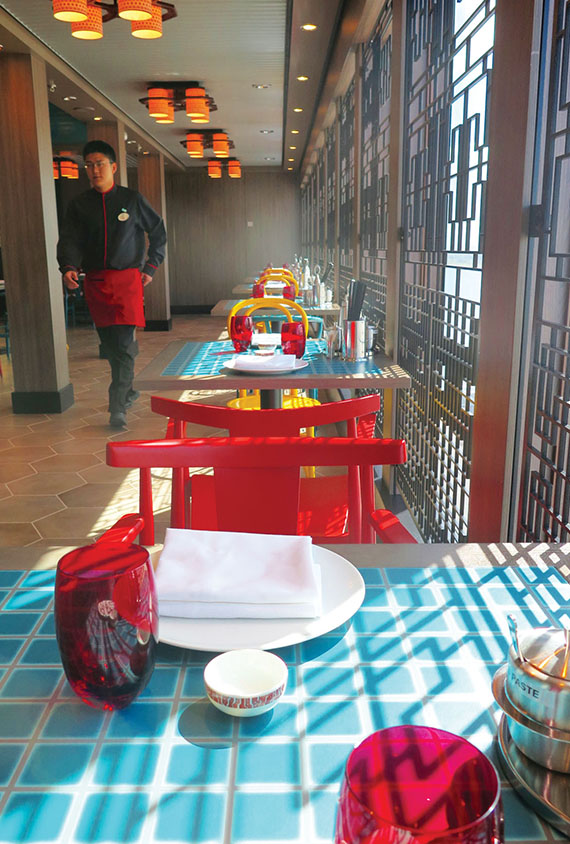 The Noodle Bar is one of the specialty restaurants available. It serves Chinese cuisine. Photo Credit: Anne Kalosh