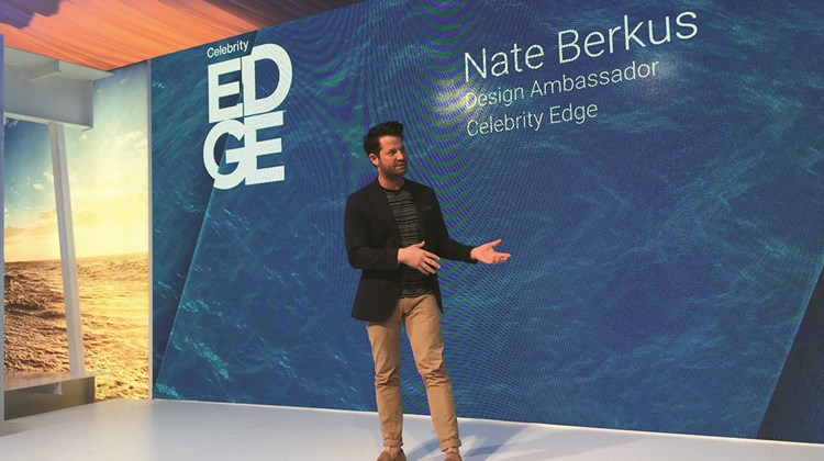 Celebrity Cruises hired designer and TV host Nate Berkus as a &#39;&#39;design ambassador&#39;&#39; to highlight how the concepts of Celebrity&#39;s Edge-class ships work.<br /><br /><strong>Photo Credit: TW photo by Tom Stieghorst</strong>