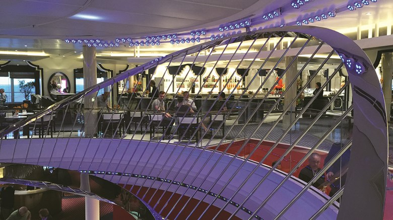 Once working behind the scenes, designers today are entering the limelight when new ships are introduced. Designer Adam Tihany said the inspiration for his work on Holland America Line's Koningsdam was the ''architecture of music.'' Among his interpretations was designing the atrium to look like a harp.
