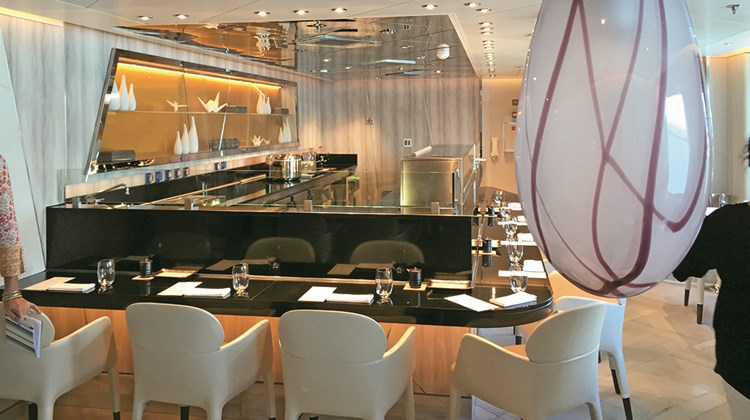 The sushi restaurant on the Seabourn Encore.<br /><br /><strong>Photo Credit: TW photo by Tom Stieghorst</strong>