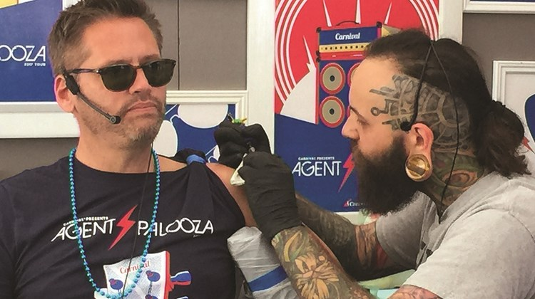 The big surprise of the event was Adolfo Perez making the ultimate commitment to travel agents by having &#39;&#39;Travel Agents Rock&#39;&#39; tattooed on his arm.<br /><br /><strong>Photo Credit: TW photo by Tom Stieghorst</strong>
