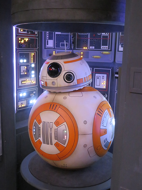 Kids can interact with BB-8 in the Star Wars Command Post.