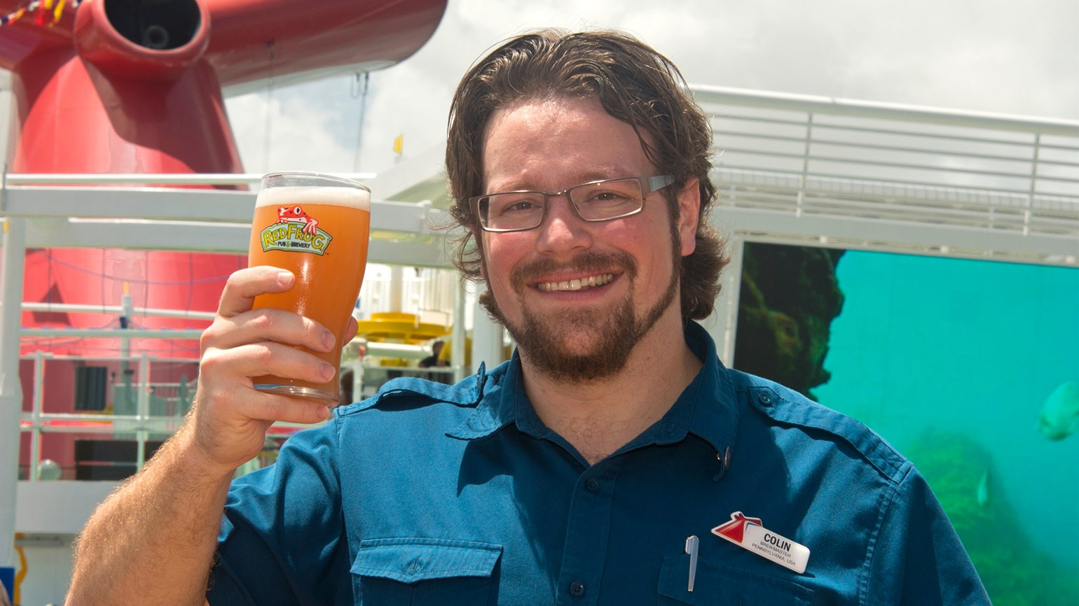 Carnival taps guava wheat beer