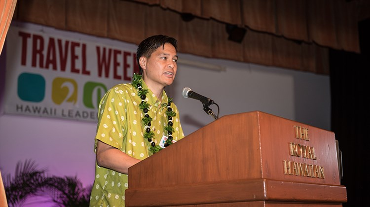 Randy Baldemor, COO of the Hawaii Tourism Authority, gave a speech that was inspiring, but also included cautions to avoid common pitfalls that beset some popular destinations.