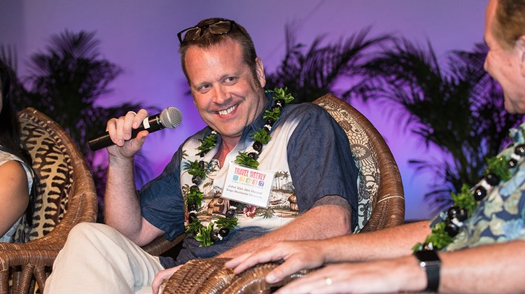 John Van den Heuvel, president, GoGo Worldwide Vacations, on the ''Masterminds Panel'' featuring leaders of major wholesalers who, in aggregate, bring millions of visitors to Hawaii.