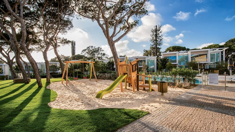 A playground at the Martinhal Cascais Family Hotel, one of four Martinhal hotels in Portugal that focus on family-oriented vacations.