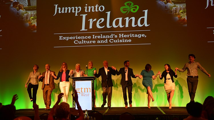 Tourism Ireland and its partners educate and entertain GTM West attendees during Friday&#39;s lunch.<br /><br /><strong>Photo Credit: Jim Harris</strong>