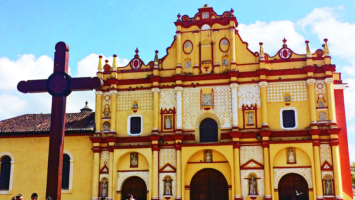 The Catedral de San Cristobal in San Cristobal de la Casas, a town located 7,200 feet above sea level. Photo Credit: Meagan Drillinger