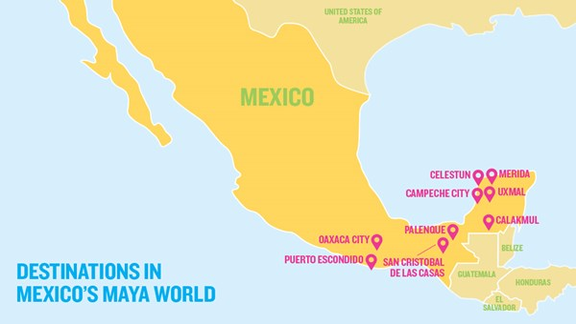 Maya World Map.Maya World Mexico Beyond Its Beaches Travel Weekly