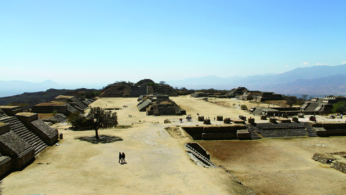 The archaeological site of Monte Alban, 6 miles east of Oaxaca City in the central part of the Valley of Oaxaca, has been designated as a Unesco World Heritage Site. Photo Credit: Meagan Drillinger