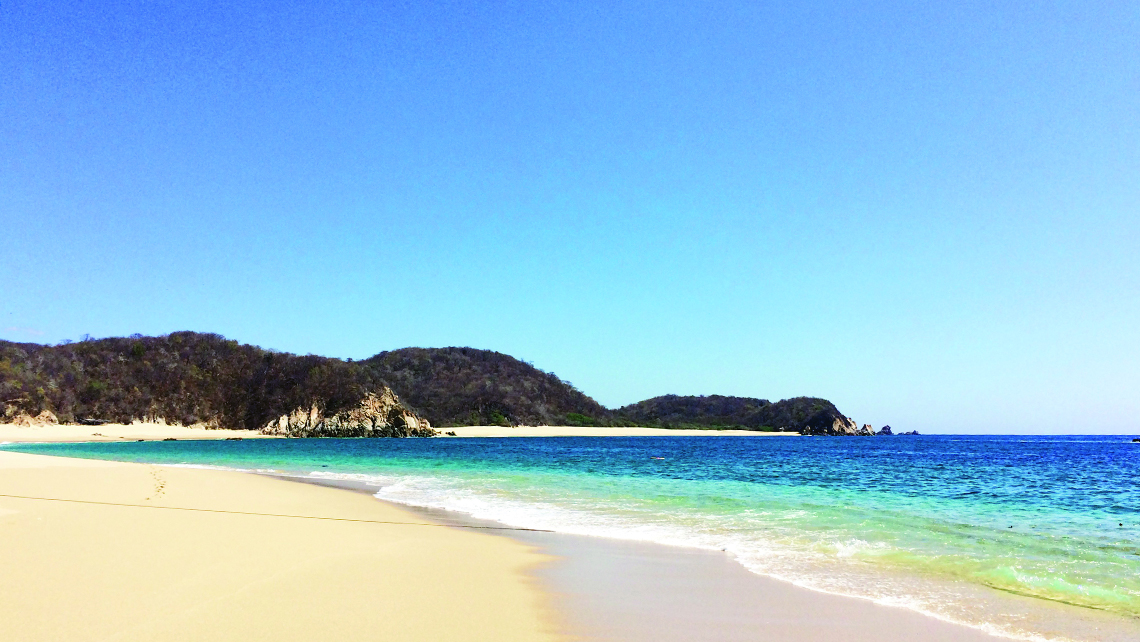 Playa San Agustin in Oaxaca, known for its sweeping stretch of pristine beaches. Photo Credit: Meagan Drillinger