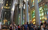 Destinations editor Eric Moya recently traveled with guests of Abercrombie & Kent's Seven Cities tour of Spain, one of its Connections Boutique Group Journeys. Pictured, interior of Gaudi's La Sagrada Familia temple in Barcelona, still uncompleted 135 years after construction began.